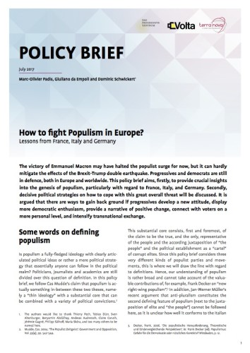 How to fight populism in Europe