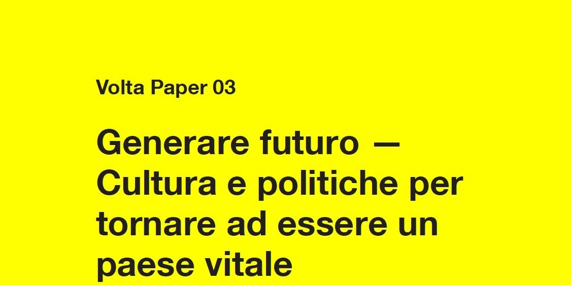 "The paper ""Generating the future – Culture and policies to generate a positive birth rate"" mentioned in the newspaper La Repubblica"