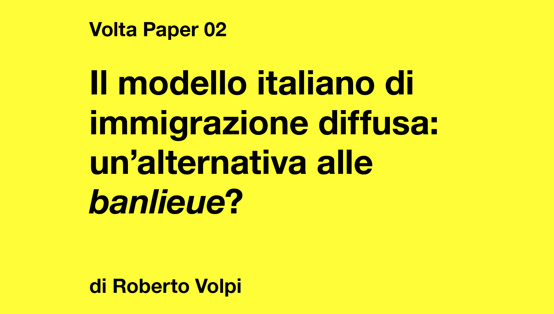 The italian model of immigration