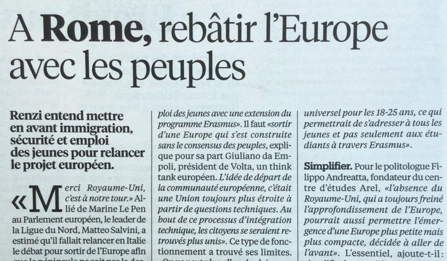 Una dimensione politica e culturale per l'Europa