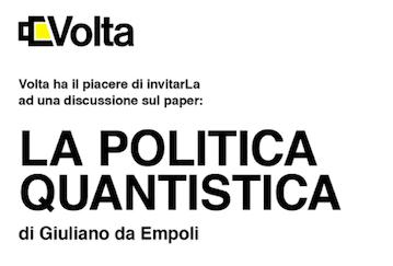 """Il seminario """"La politica quantistica"""" organizzato da Volta a Roma"""