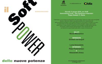 """""""Il soft power delle nuove potenze"""" – Resoconto dell'incontro del 13 giugno 2019"""