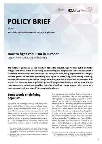Come combattere il populismo in Europa