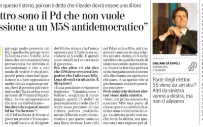 """""""Quei quattro sono il Pd che non vuole la sottomissione a un M5S antidemocratico"""". Intervista di Giuliano da Empoli per La Stampa"""