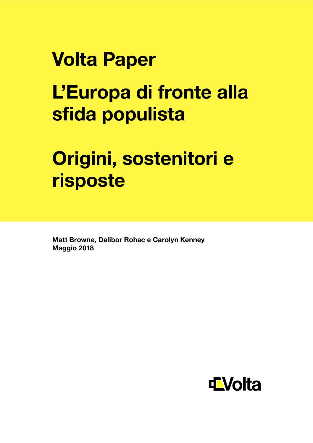 L'Europa di fronte alla sfida populista. Origini, sostenitori e risposte