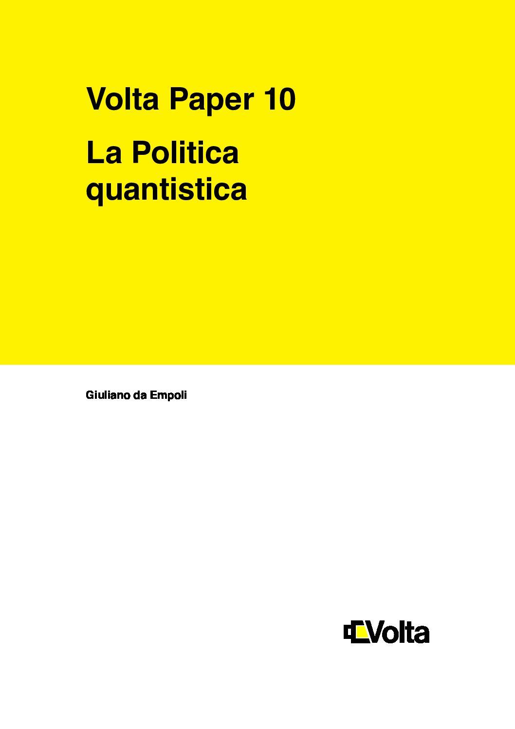 La politica quantistica